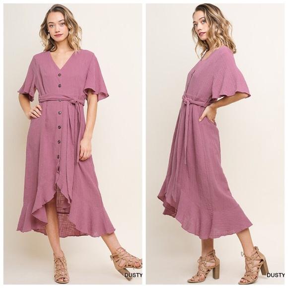 Serval Fashion Dresses & Skirts - Wanderlust Button Down Dress